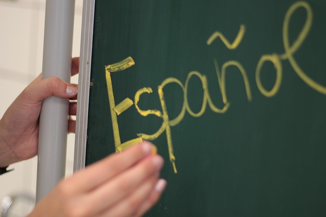 španělština na tabuli